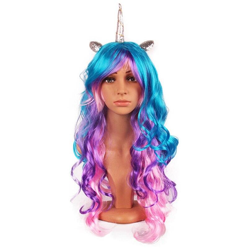 Rainbow Unicorn Wig