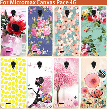 New Popular Painting Patterns Fashion 10 Styles Caes For Micromax Canvas Pace 4G Q415 SOFT TPU Silicone Cover