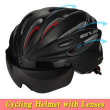 5 Colors Bicycle Helmet Integrally-molded MTB Road racing Bike Safe Cap Cycling Helmet With Magnet Adsorption Goggles K80 PLUS(China)