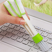 Pocket Keyboard Dust Brush Collector Air-condition Cleaner Computer Clean Tools Window Leaves Blinds Cleaner Duster(China)