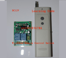 12V 2CH 10A 3000M Wireless Remote Control Switch Receiver board & transmitter remote controllerLearning code 315/433MHZ(China)
