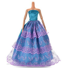 1 Pc Doll New Fashion Handmade Design Outfit Princess Wedding Dress Noble Party  Gown For doll Best Gift For Girl  Doll bdeb0bad7d9a