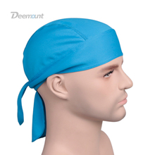Outdoor Quick Dry Pure Cycling Cap Head Scarf Headscarf Headband Summer Men Running Riding Bandana Ciclismo Pirate Hat Hood