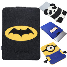 For Macbook Pro / Retina 13 inch Batman Superman Minions Cartoon Organizer Felt Laptop Bag For Macbook Air 13 inch Sleeve Cases