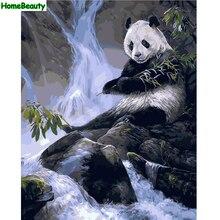 Дом Красоты DIY картина маслом by numbers уолл холст аватар для гостиной панда окраски краска по количеству акриловые рисование E687(China)
