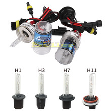 2 pcs hid bixenon  lens xenon kit bulb 12v 35w 6000k h1 h3 h7 h8  h11 car headlight fog lights lamp car styling