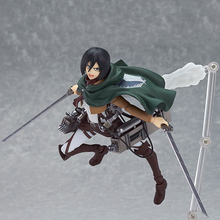 14cm Anime Attack on Titan Shingeki no Kyojin Mikasa Ackerman Figma PVC Action Figure Collectible Model Toy Doll(China)