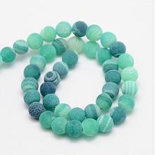 Frosted Natural Effloresce Stone Beads for DIY Jewelry Making Round 8mm Loose Beads Fit Handmade Bracelets About 46pcs/strand