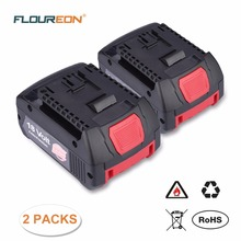 Original FLOUREON 18V 4000mAh Rechargeable Battery Pack Replacement Power Tool Battery BAT609 Li-Ion Battery for Bosch 2 607 336(China)