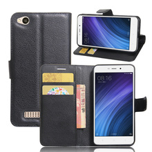 Xiaomi Redmi 4A Case Leather Flip Back Cover For 5.0 inches Xiaomi Redmi 4A With Stand And Wallet