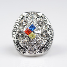 factory sales 2008 Super Bowl Replica Pittsburgh Steelers Championship Ring free shipping(China)