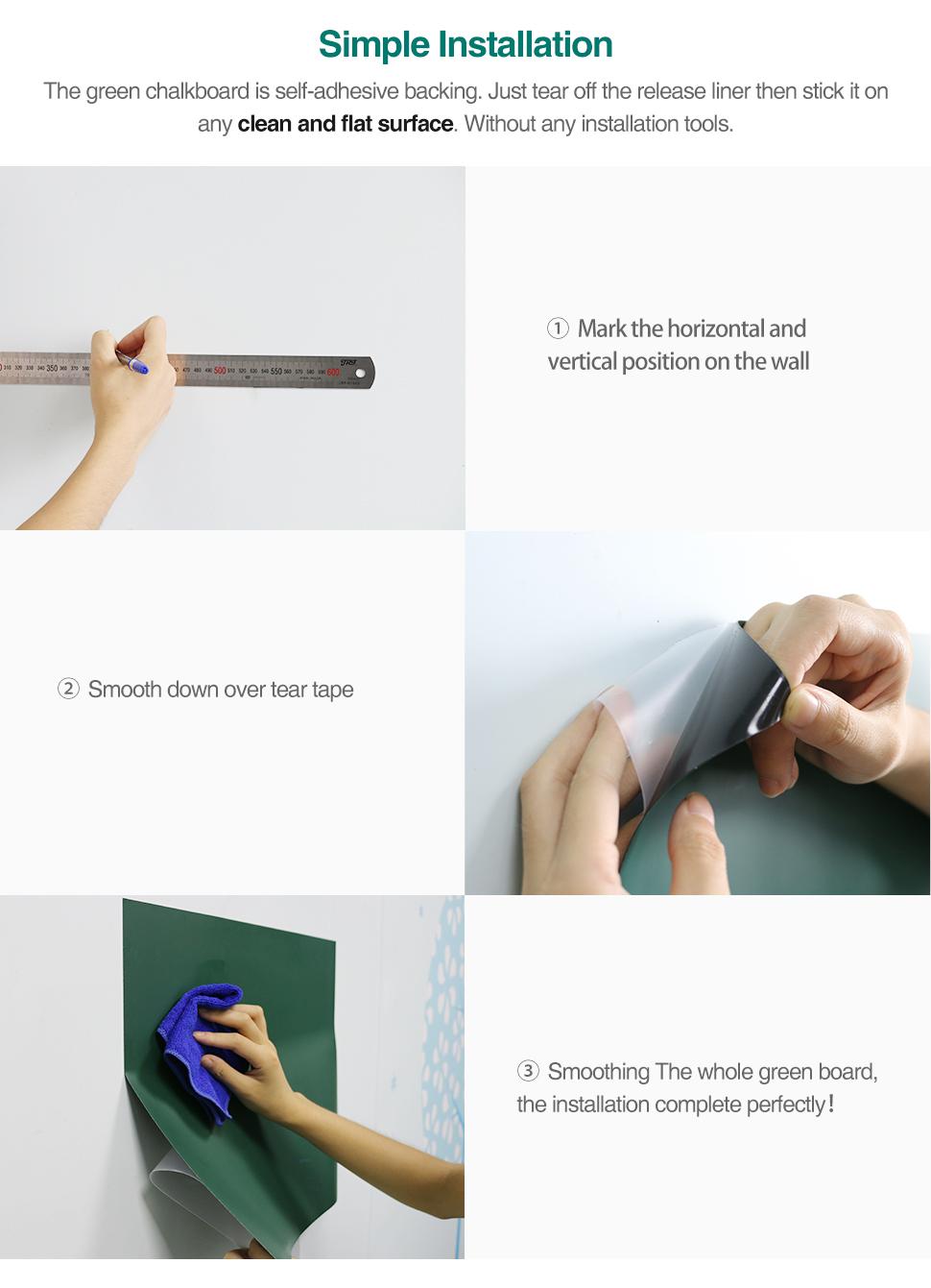 06 Wall Sticker Chalkboard flexible Chalk Board Ferrous Teaching Self-adhesive Board Green Board Color Hold Magnets Wall Decor