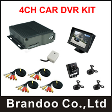 4CH Car Mobile DVR support SD Card 3G/4G GPS Realtime Video Recorder