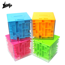Likiq 3D Maze Magic Cube puzzle game box Brain Teaser Labyrinth Rolling Ball Educational Toys for children kids Earling Learning