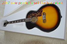 Factory + stock product Chibson Sunburst guitar, electric acoustic guitar maple top handmade guitar guitarra