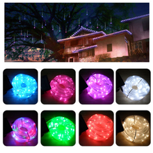 50 LED Waterproof Solar Rotatable soft color changeable light for holiday Outdoor Garden Camping LED Lamp Hose Lights(China)