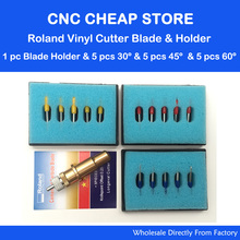 15pc Roland lettering knife Roland plotter cutter vinyl cutting GCC high quality carbide 30 /45/ 60deg + Golden Roland Holder(China)