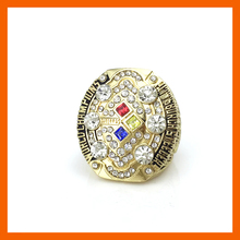 Drop shipping High Quality 2008 Super Bowl Replica Pittsburgh Steelers Championship Ring for Fans(China)