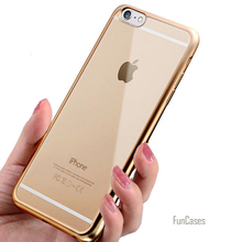 Coque For iPhone 7 Case Plating Crystal Soft TPU Clear Transparent Silicone Case for iPhone 7 / 7 Plus Cover for iPhone7 Case >,(China)