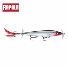 Rapala Brand XRPR11 Minnow 110mm 11g Hard Fishing Lure Stainless Steel Double Propeller Topwater Artificial Bait With VMC Hooks