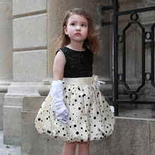 REP 2017 Fashion Little Girl Dresses Black Wedding Princess Vestidos 2017 Kids Clothes For Girls Of 1 2 3 Years Old AKF164077(China)