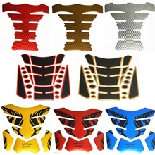 1x Tank Pad Tankpad Protector Sticker For Motorcycle Universal Fishbone 3D Rubber sticker Motorcycle Tank sticker Free Shipping(China)