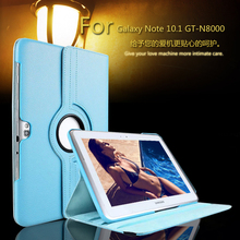 360 Degrees Rotating Stand PU Leather Flip Case For samsung Galaxy Note 10.1 N8000 N8010 tablet Unique Stained case + Film(China)