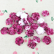 New Design 100 Piece Flatback Flat Back Resin Flower Cabochon Kawaii DIY Resin Decoration Craft Making Handmade Accessories:13mm