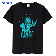 Tee Shirt Men 2017 Peace Among Worlds Rick And Morty Mr Meeseeks Top T Shirt For Men Homme Fited Men's T-Shirt Cotton Simple(China)