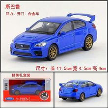 1:36 11.5cm new Welly Subaru WRX STI car alloy vehicle model pull back cool boy birthday toy
