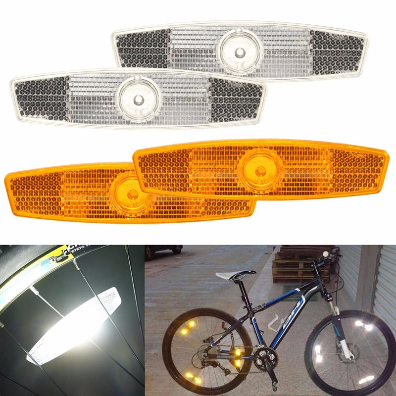 Bike bicycle wheel spoke reflectors Reflective safe Mountain Road Yellow T1