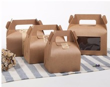 12pcs Wholesale New Style Kraft Paper Favor Bag Cupcake Boxes Cupcake Packing Cake Boxes Gift Box(China)