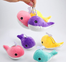 Kawaii NEW 4Colors, Little 10CM Whale , Dolphin Plush Stuffed Toy Doll , Keychain pendant Wedding Bouquet TOY Gift DOLL(China)