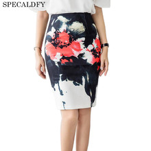 Buy 2017 Summer High Waist Skirts Womens Fashion Floral Print Elegant Pencil Skirt Female Ladies Office Mini Skirt Faldas Mujer for $13.98 in AliExpress store