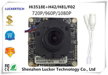 Luckertech CCTV IP Camera module Hi3518E 3516C 1080P 25FPS H.265 with lan cable board CMOS Full HD P2P XMEYE CMS(China)