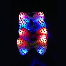 Led Luminous Neck Tie Mixcolor 3 Model Flashing Male Female Fashion Bow Tie Party wedding Dancing Stage Glowing Tie Chrismas