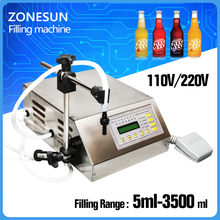 ZONESUN Free shippng with fast express New Brand Digital Control Water Liquid Filling Machine Filler GFK-160 5-3500ml