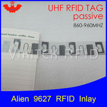 UHF RFID tag Alien 9627 inlay 915mhz 900mhz 868mhz 860-960MHZ Higgs3 EPC Gen2 ISO18000-6c smart card passive RFID tags label