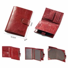 Real Genuine Leather Womens Passport Holder Wallets lady Cowhide Passport Cover Purse Brand Female Credit&Id Car Wallet(China)