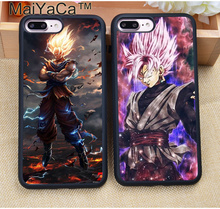 MaiYaCa Cool Goku Super Saiyajin Dragon Ball Z Phone Cases For iPhone 7 7 Plus 6 6S Plus 5 5S 5C SE 4S Soft Rubber Case Cover(China)
