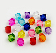 Wholesale New arrival 30pcs/lot 10*12mm Cube Faceted 10 Colors Acrylic Loose Spacer Beads for Jewelry & DIY Craft PS-BSD098