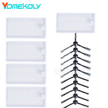 Buy 5Pairs Side Brushes 5PCS Hepa filters Ecovacs CEN540 Dibea X500 X580 KK8 CR120 CR121 MirrorS Vacuum Cleaner Replacement Kits for $9.86 in AliExpress store