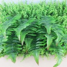 10Pcs Fake Persian Green Fern Leaves leaf Artificial plants wedding home DIY wall decoration cheap plastic Flowers arrangement