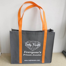 wholesale 500pcs/lot personalized 100g non Woven Bag Reusable Tote Bags Custom printed logo Foldable supermarket Shopping Bags(China)