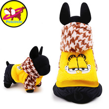Petcircle Garfield pet dog clothes warm Dog Coats for chihuahua 2 Color Size XXS-L Dog Clothes Winter dog costumes Freeshipping
