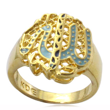 Islam Muslim allah ring for men & women 125 pieces total $337.50 freeshipping(China)