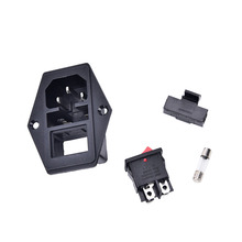 ON/OFF New switch Socket with female plug for power supply cord arcade machine IO switch with Fuse(China)