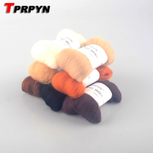 TPRPYN 7pcs/lot needlework Wool set wool felt poke fun handmade diy material 10g/piece E20