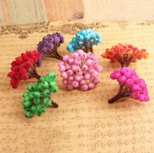 12mm Artificial Flower Heads Stamens berry for Birthday Wedding Party favor home Cards Cakes Floral Decoration DIY craft Wh