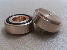 4pcs (gold) Aluminum feet for amplifier /speaker(with rubber ring)D:44mm H:17mm style B
